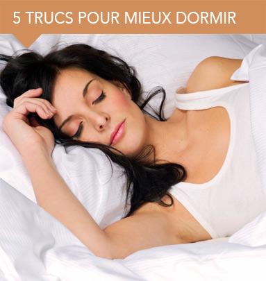 5 trucs pour mieux dormir.