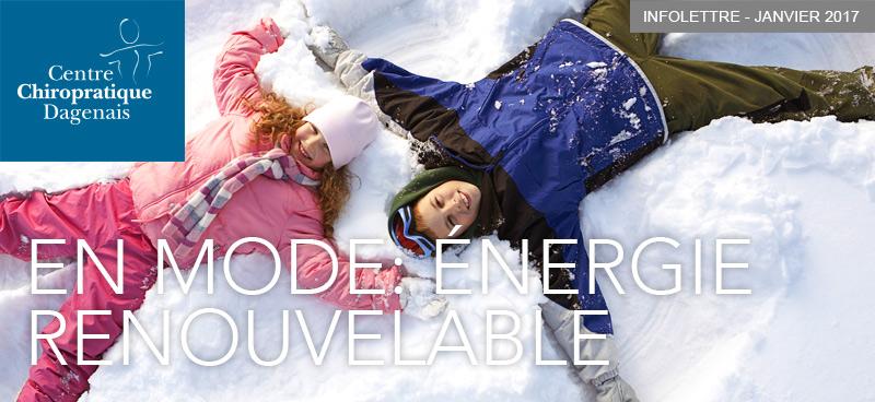 Janviel 2017 : Infolettre En mode : énergie renouvelable