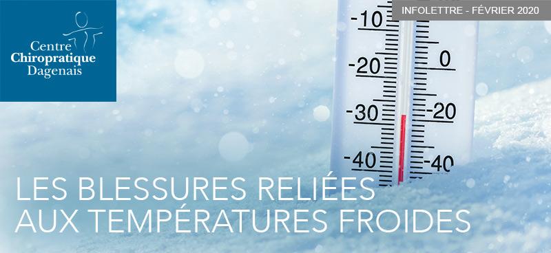 Février 2020 : Les blessures reliées aux températures froides